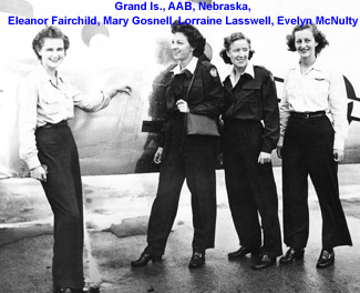 Mary Gosnell and others at Grand Island AAB.